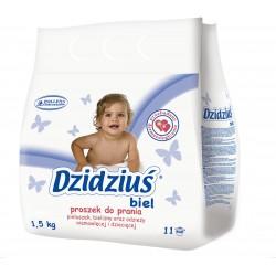 Dzidziuś Proszek do prania pieluszek, bielizny, odzieży niemowlęcej Biel 1,5kg
