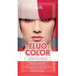 Joanna Fluo Color Szampon koloryzujący w saszetce Czerwień  35g