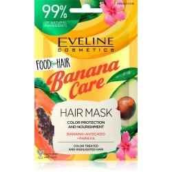 Eveline Food for Hair Banana Care Maska do włosów farbowanych - ochrona koloru i odżywienie  20ml