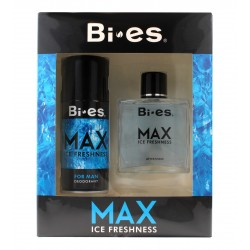 Bi-es Max Ice Freshness for men Zestaw prezentowy (dezodorant spray 150ml+płyn po goleniu 100ml)