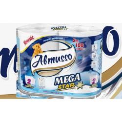 Almusso ręcznik papierowy Mega Star 2 rolki w zgrzewce, 12 zgrzewek w opakowaniu zbiorczym