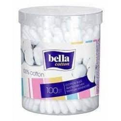 TZMO Bella patyczki do uszu pudełko plastikowe okrągłe 100 sztuk