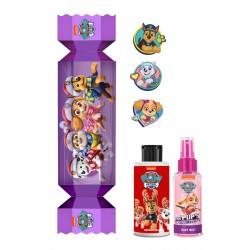 Bi-es Paw Patrol Purple-Cukierek Zestaw prezentowy dla dzieci (żel p/prysznic 100ml+mgiełka 80ml+naklejki)