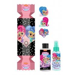 Bi-es Shimmer&Shine-Cukierek Zestaw prezentowy dla dzieci (żel p/prysznic 100ml+mgiełka 80ml+naklejki)