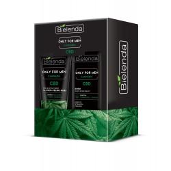 Bielenda Zestaw prezentowy Only for Men Cannabis (krem do twarzy 50ml+pasta do twarzy 3w1 150g)