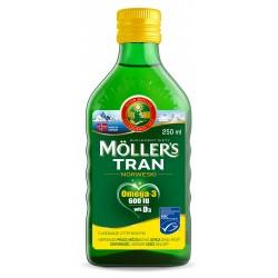 MOLLER`S Tran Norweski Cytrynowy - suplement diety 250ml