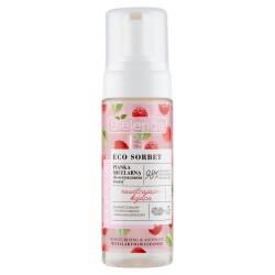 Bielenda Eco Sorbet Malina Pianka micelarna do oczyszczania twarzy nawilżająco-kojąca 150ml