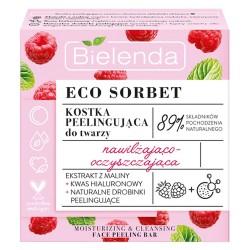 Bielenda Eco Sorbet Malina Kostka peelingująca do twarzy nawilżająco-oczyszczająca 60ml
