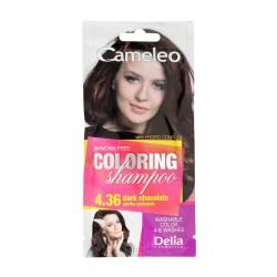 Delia Cosmetics Cameleo Szampon koloryzujący nr 4.36 Gorzka Czekolada  1szt