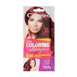 Delia Cosmetics Cameleo Szampon koloryzujący nr 6.65 Owoc Granatu  1szt