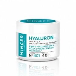 Mincer Pharma Hyaluron Łagodzący Krem półtłusty do twarzy 40+ nr 401  50ml