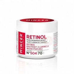 Mincer Pharma Retinol Krem przeciwzmarszczkowy - tłusty 70+ nr 504  50ml