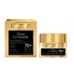 Bielenda Złote Ceramidy Ultra naprawczy Krem przeciwzmarszczkowy 70+ na dzień i noc  50ml