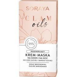 Soraya Glam Oils Regenerujący Krem - maska na dzień i noc - cera sucha i bardzo sucha 50ml