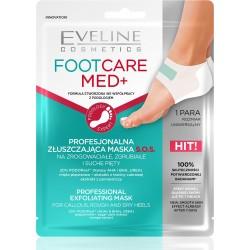 Eveline Foot Care Med+ Profesjonalna Złuszczająca Maska płachtowa S.O.S na pięty 1 para