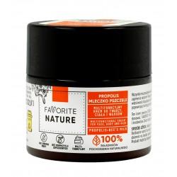 Favorite Nature Multifunkcyjny Krem do twarzy ,ciała i włosów z Propolisem i Mleczkiem Pszczelim 50ml